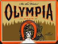 Orange and Blue olympia Beer Logo