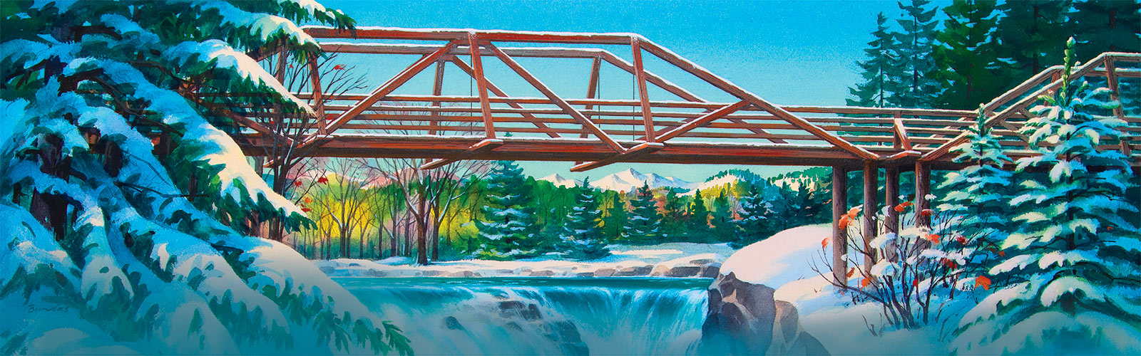 Painting of Tumwater Falls